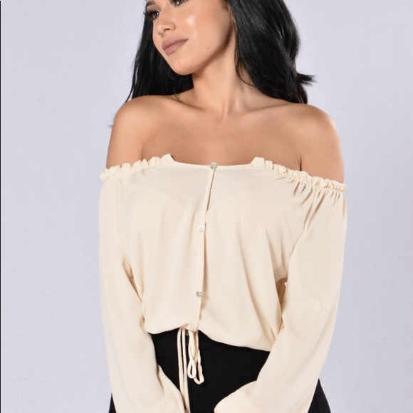Fashion Nova Over The Shoulder Blouse Poshmark